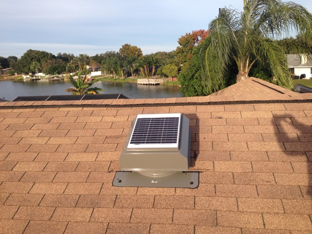 Solar Attic Fans For Shingle Roofs