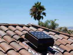 Solar Attic Fan For Tile Roof