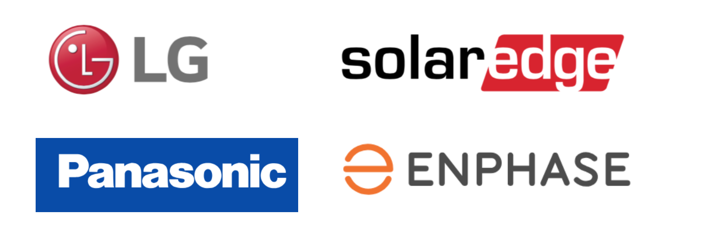 LG Solar Panels, Panasonic Solar Panels, Solar Edge, Enphase Energy