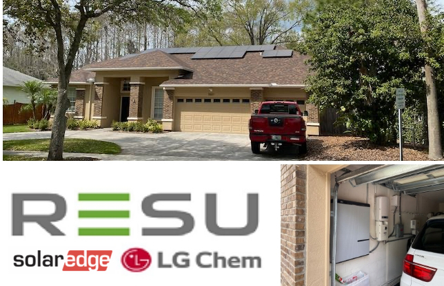 LG Solar Storage with SolarEdge and Panasonic Solar Panels HIT+340 Solar Power Battery